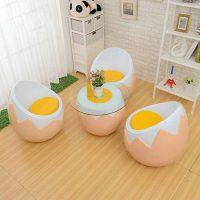 Bộ bàn ghế Composite hình trứng GC017