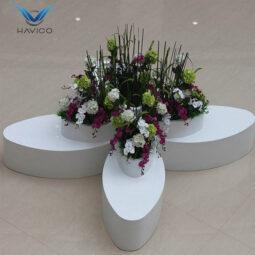 Ghế chờ composite kết hợp bồn hoa GC004
